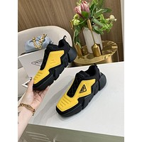 PRADA Men Fashion Boots fashionable Casual leather Breathable Sneakers Running Shoes-67
