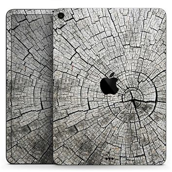 "Aged Cracked Tree Stump Core - Full Body Skin Decal for the Apple iPad Pro 12.9"", 11"", 10.5"", 9.7"", Air or Mini (All Models Available)"