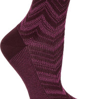 Missoni - Metallic crochet-knit socks