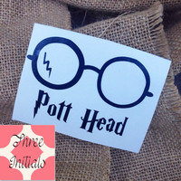 Car Decal Monogram Decal Monogram Harry Potter Decal Monogram Gift Monogram sticker Car sticker Car Initials Vinyl Initials Harry Potter