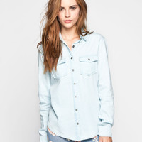 Ali & Kris Womens Chambray Shirt Light Blue  In Sizes