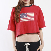 Vintage Rework Polo Crop Tee