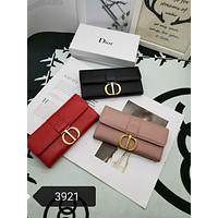DIOR WOMEN'S LEATHER WALLET