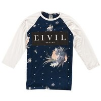 Civil Clothing Floral Star Raglan T-Shirt - Men's at CCS