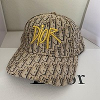DIOR Embroidery peaked cap