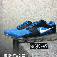 KUYU N331 Nike Air Vapormax 3.0 Flyknit 2018 Breatheable Casual Running Shoes Black Blue White