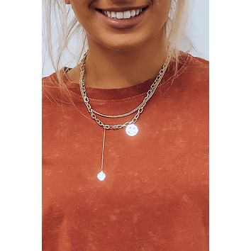 All Smiles Necklace: Gold