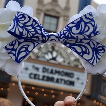 Disneyland Diamond Celebration 60th Anniversary Inspired Minnie Mouse Ears Headband