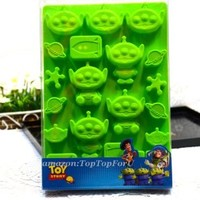 Disney Toy Story Little Green Men Alien Silicone Ice Mould Chocolate Candy Muffin Pan Mold Cup