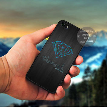 Blue Diamond Supply Co Dark Wood cover case for iPhone 4 4S 5 5C 5 5S 6 Plus Samsung Galaxy s3 s4 s5 Note 3