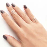 Silver Midi Ring • Swirl Ring • Midi Ring • Pinky Ring • Stacking Rings • Knuckle Ring • Sterling Silver Midi Ring • Sterling Silver Ring