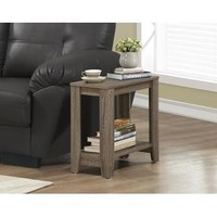 Monarch Specialties Dark Taupe Reclaimed-Look Accent Side Table I 3115