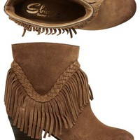 SBICCA PATIENCE FRINGE BOOTIE