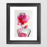 Bright Pink - Part 2  Framed Art Print by Jenny Liz Rome