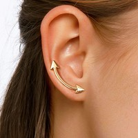 Arrow Detail Bar Stud Earrings 1pair