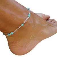 Women's Handmade Bead Chain Anklet Foot Jewelry Anklet Chain