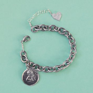 Angel Face Charm Bracelet