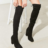 Samantha Faux Suede Thigh High Boot | Urban Outfitters