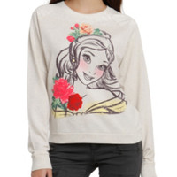 Disney Beauty And The Beast Belle Sketch Girls Pullover Top