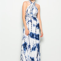 Blue Tye Dye Maxi Dress
