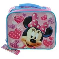 Lunch Bag - Disney - Minnie Mouse - Hearts & Flowers