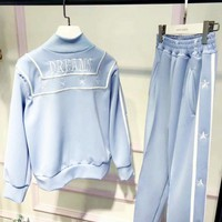 Dreams Fashion Letter Long Sleeve Shirt Sweater Pants Sweatpants Set Two-Piece Sportswear G-AGG-CZDL