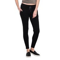Womens Black Venus Fitted Drawstring Pants By One Grey Day
