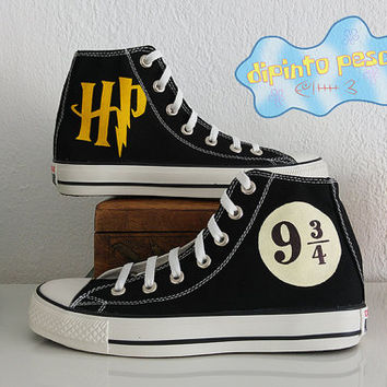 Harry Potter Hand Painted Custom Shoes