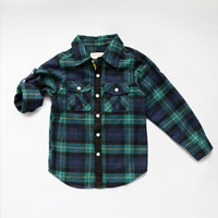 Vierra Rose Lenox Pocket Shirt in Green Plaid - T1007 - PRE-ORDER