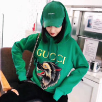 ''Gucci'' Women Embroidery Hot Hoodie Green Sweater