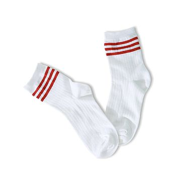 Your Way Socks - Red Stripes