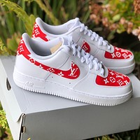 """Air Force 1 """"Supreme L V"""" (with front and back tab) Customs"""