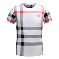 Burberry Men Fashion Casual Letter Print Shirt Top Tee