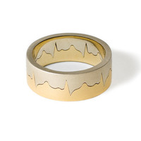 HEARTBEAT Ring (gold): wedding, engagement, commitment, anniversary