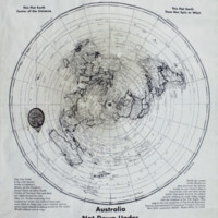 FLAT EARTH MAP, REAL WORLD.     WALL POSTER