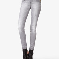 Spiked Distressed Skinny Jeans   FOREVER 21 - 2037856298