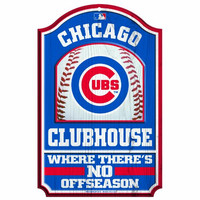 MLB Chicago Cubs 11/17-Inch Traditional Look Wood Sign