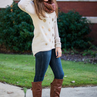 Around Town Sweater, Cream