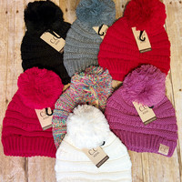 Childrens CC Pom Beanies - Lavender or Red only