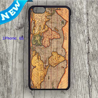Dream colorful Vintage Word Map iPhone 6S Case