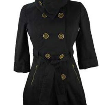 Roll Collar Trench - Outerwear - doubledutch Boutique