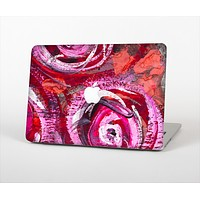 The Watercolor Bright Pink Floral Skin Set for the Apple MacBook Air 13""