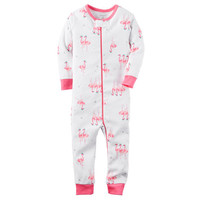1-Piece Footless Snug Fit Cotton PJs