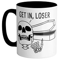 Get In Loser Coffin Mug