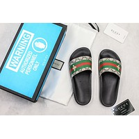 Gucci Slide Sandal With Blue Box Style #7 36-45