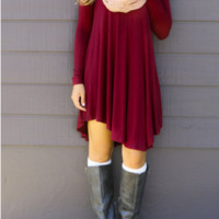 Causal Plain Loose Dress B0014245