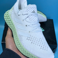 QIYIYF Adidas Futurecraft 4D Print 4D Breathable Running Shoes White