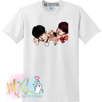 Floral SugaKookie BTS T-shirt / Yoongi and Jungkook (Design by Riverflows)