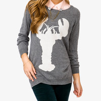 Lobster Silhouette Sweater