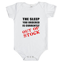 the sleep you ordered is currently out of stock infant